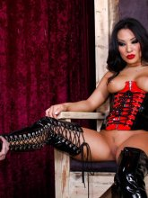 Asa Akira likes sex in latex from evilangel