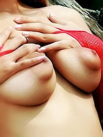 Breasty June Piya Red Lingerie Strip